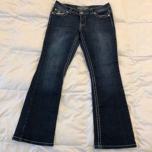 Dark straight leg jeans